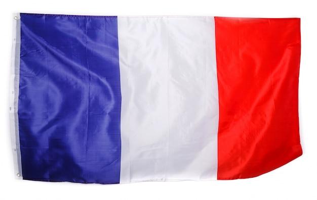 Drapeau français sur blanc