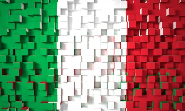 Drapeau géométrique italien