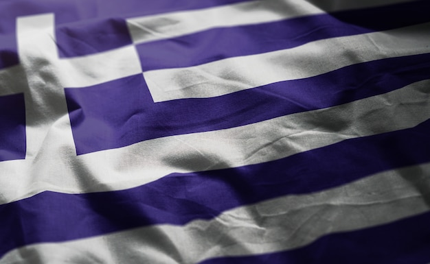 Drapeau grec, ruminé, gros plan