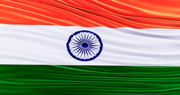 Drapeau de l'inde pour le memorial day, inde waving flag, independence day.