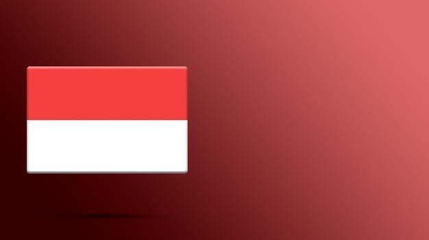 Drapeau de l'indonésie sur une plate-forme réaliste