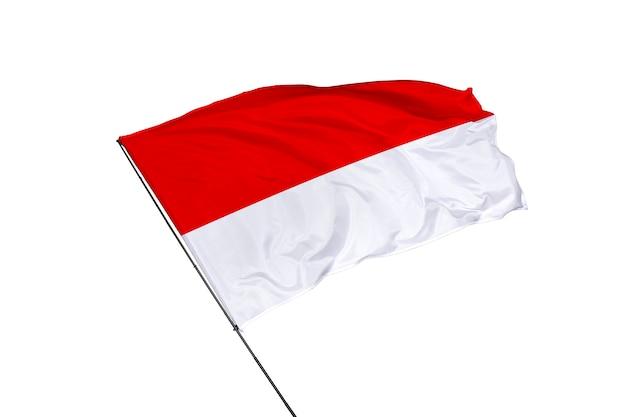 Drapeau indonésien sur fond blanc