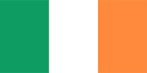 Drapeau irlandais de l'irlande