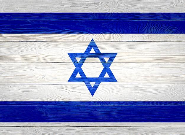 Drapeau d'israël peint sur des planches de bois
