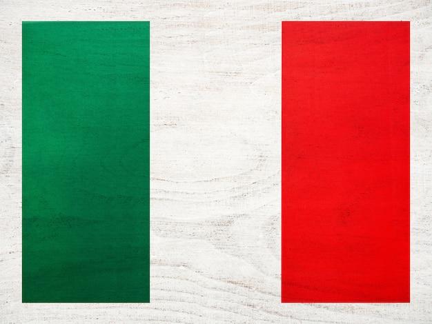 Drapeau italien. belle carte de voeux. fermer