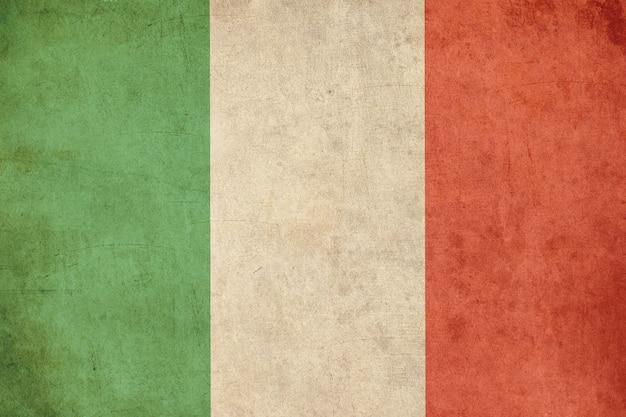Drapeau italien, style de carte postale ancien texturé