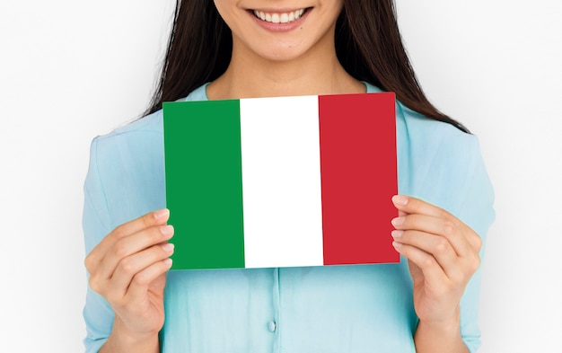 Drapeau italien vert blanc rouge