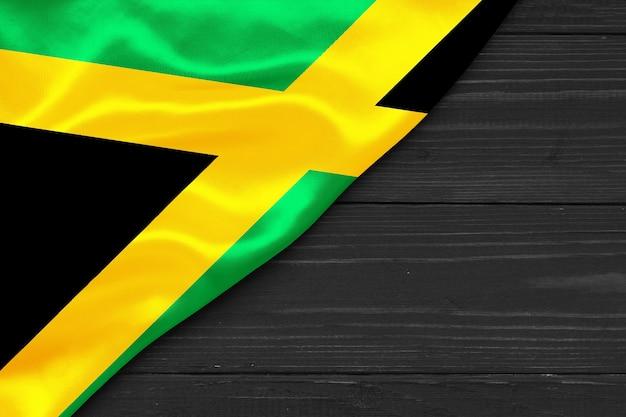 Drapeau de la jamaïque copie espace