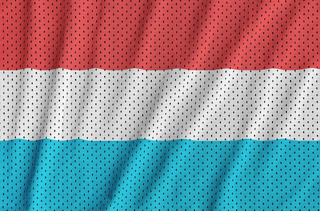 Drapeau luxembourgeois imprimé sur un filet de nylon et polyester