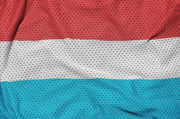 Drapeau luxembourgeois imprimé sur un tissu en mesh polyester nylon sportswear