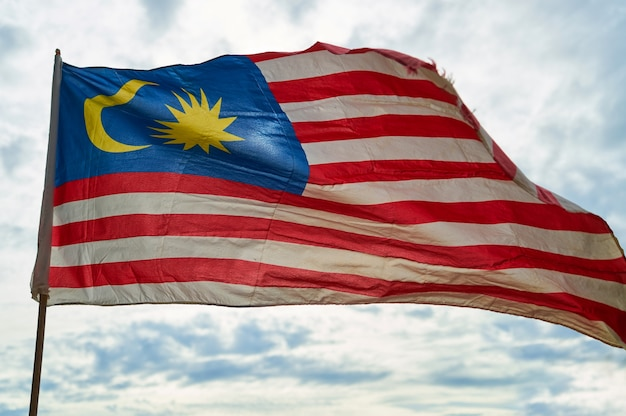 Drapeau malaisie national de vague bleue