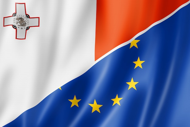 Drapeau malte et europe