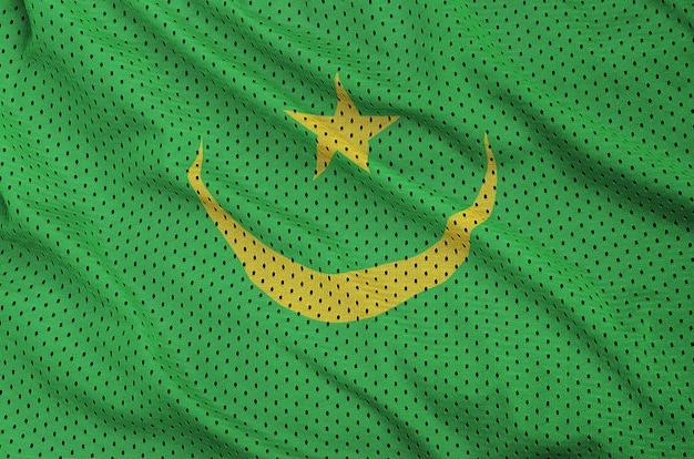 Drapeau mauritanie imprimé sur un tissu en maille de polyester sportswear en nylon