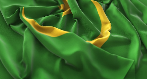 Drapeau de la mauritanie ruffled beautifully waving macro plan rapproché