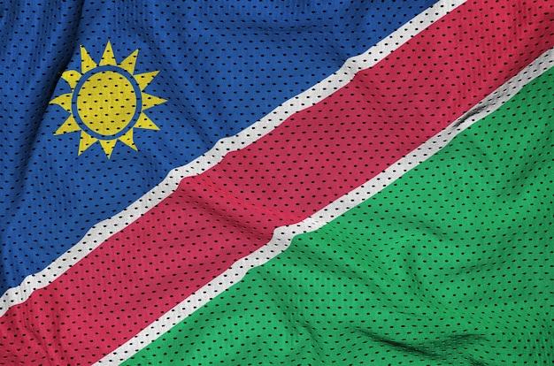 Drapeau namibie imprimé sur un tissu en maille de nylon sportswear en polyester