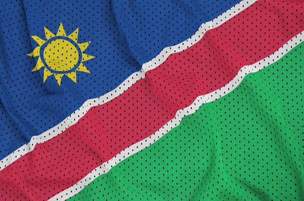 Drapeau namibien imprimé sur un tissu de nylon sportswear en nylon