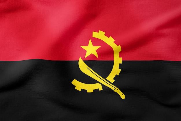 Drapeau national de l'angola - forme rectangulaire