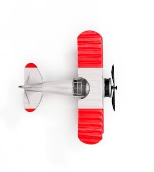 Drapeau national de l'autriche voyage avion jouet en métal isolé sur blanc