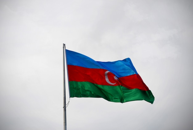 Drapeau national d'azerbaïdjan