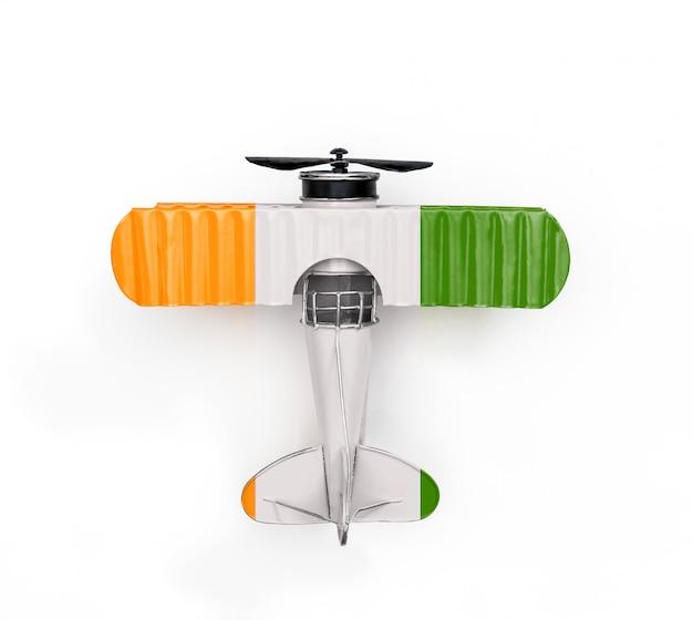Drapeau national de la côte d'ivoire voyage avion jouet en métal