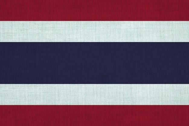Drapeau national coton de thaïlande