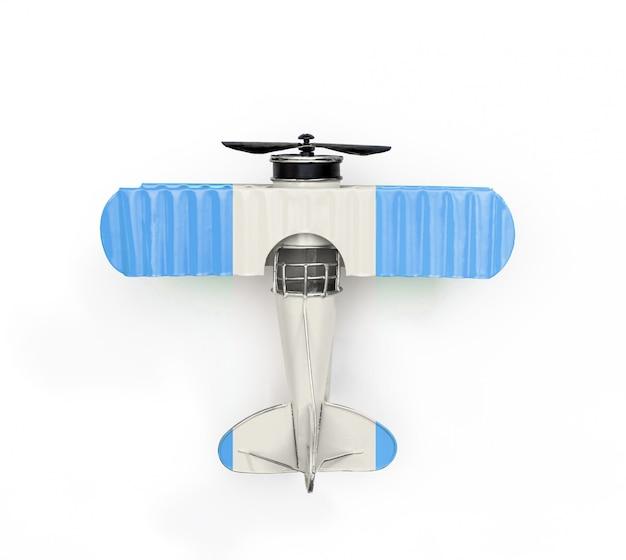 Drapeau national du gautemala voyage avion jouet en métal isolé sur blanc