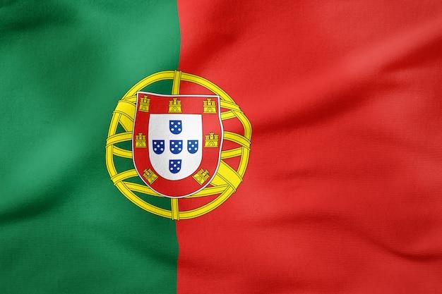 Drapeau national du portugal - symbole patriotique de forme rectangulaire