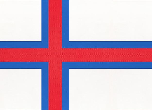 Drapeau national des îles féroé en tissu