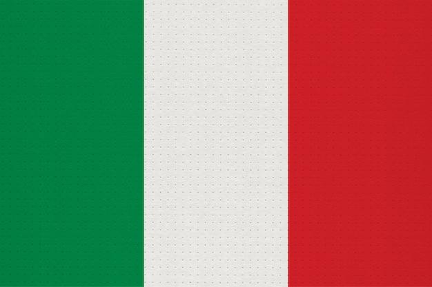 Drapeau national italien en métal de l'italie, europe