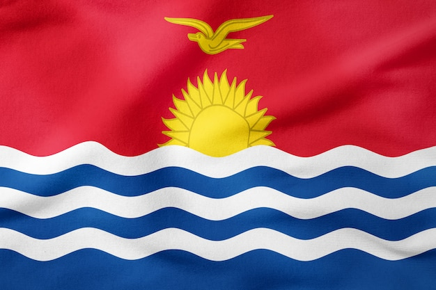 Drapeau national de kiribati - symbole patriotique de forme rectangulaire