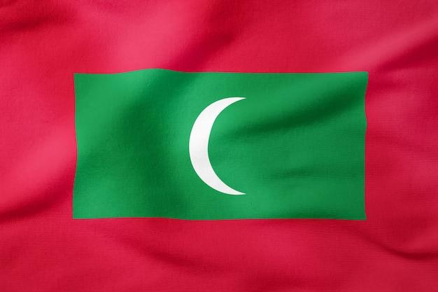 Drapeau national des maldives - symbole patriotique de forme rectangulaire