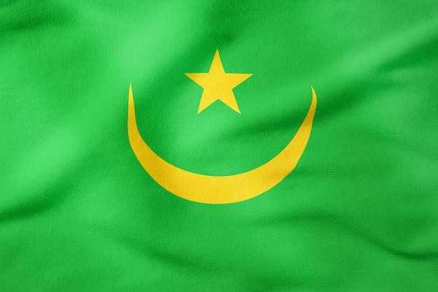 Drapeau national de la mauritanie - symbole patriotique de forme rectangulaire