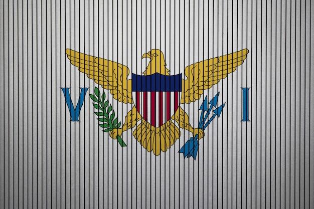 Drapeau national peint des îles vierges américaines sur un mur de béton
