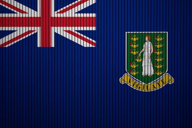 Drapeau national peint des îles vierges britanniques sur un mur de béton