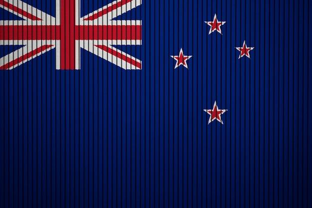 Drapeau national peint de la nouvelle-zélande sur un mur de béton