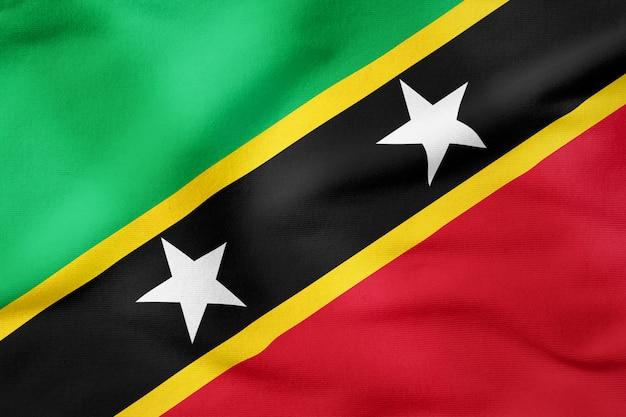 Drapeau national de saint-kitts-et-nevis - symbole patriotique de forme rectangulaire