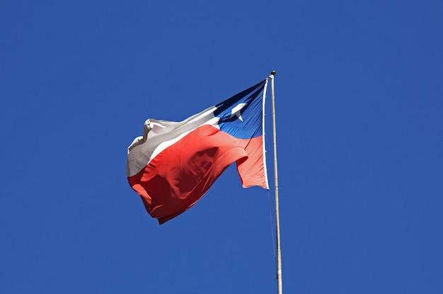 Le drapeau national à santiago du chili