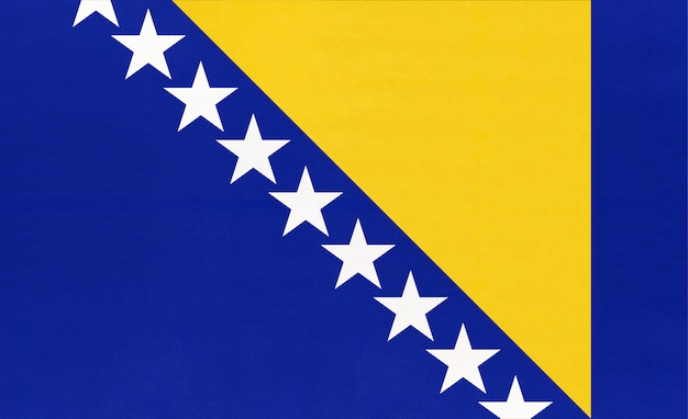 Drapeau national de tissu de bosnie-herzégovine fond de textile,