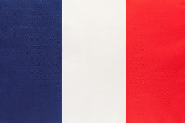 Drapeau national tissu france, fond textile