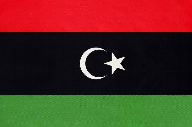 Drapeau national de tissu libyen
