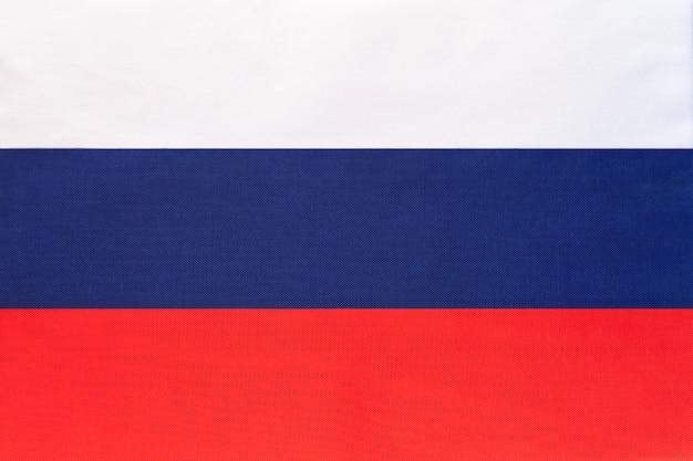 Drapeau national de tissu de russie fond textile