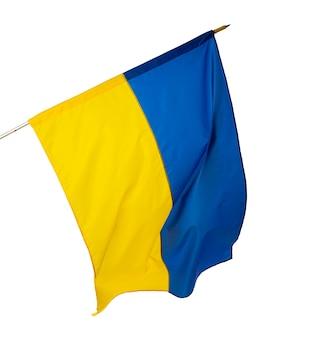 Drapeau national de l'ukraine isolé sur fond blanc