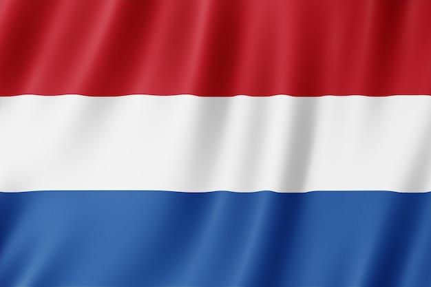 Drapeau néerlandais dans le vent.