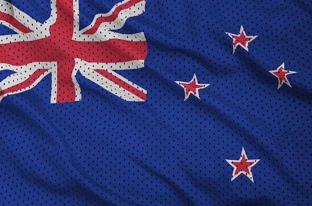 Drapeau néo-zélandais imprimé sur un maillot de sport en nylon et polyester