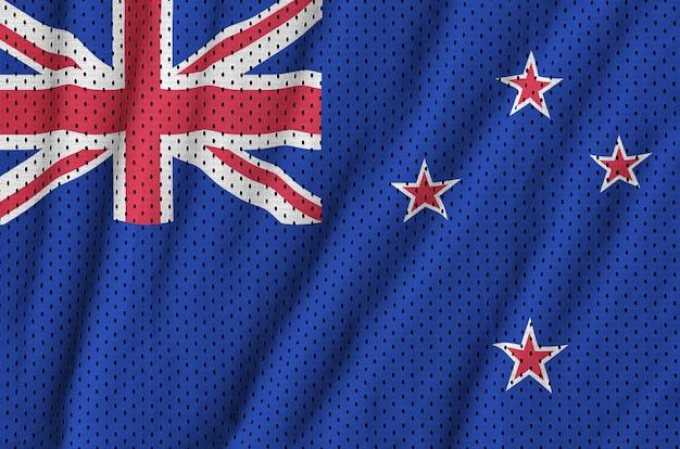Drapeau néo-zélandais imprimé sur un tissu en maille de nylon sportswear en polyester