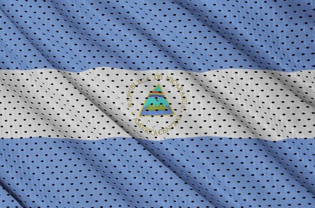 Drapeau nicaragua imprimé sur un tissu mesh en nylon polyester sportswear