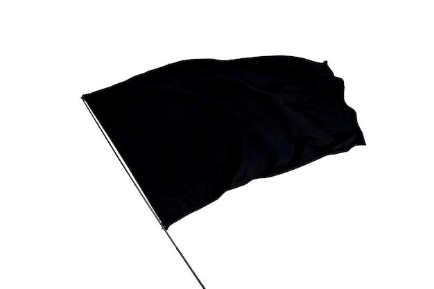 Drapeau noir sur fond blanc