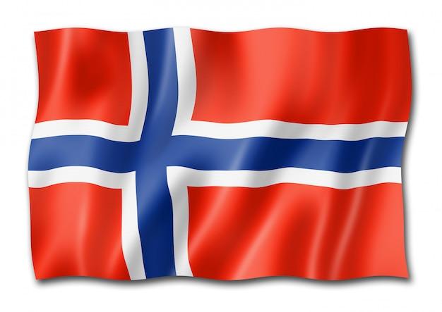Drapeau norvégien isolé