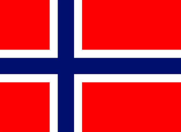 Drapeau officiel du pays de la norvège