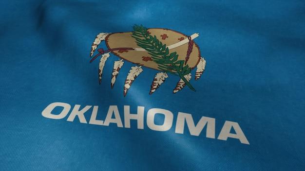 Drapeau de l'oklahoma vidéo ondulant dans le vent.